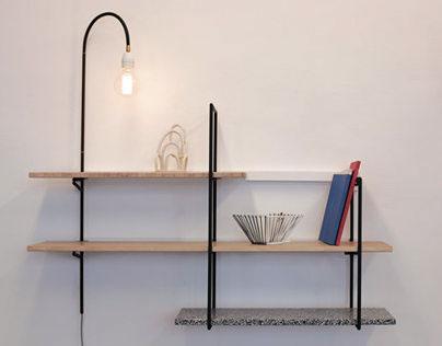 Etagère / Lampe modulable