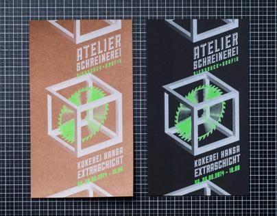 Promotion Cards. Atelier Schreinerei. Dortmund.