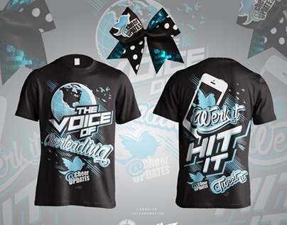 Cheer updates fan t shirt design 2014 on behance Cheerleading t shirt designs