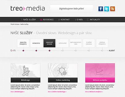 Treomedia.cz – Web & Identity update