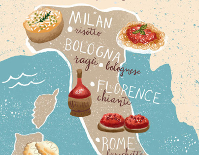 Cuisine of Italy Map