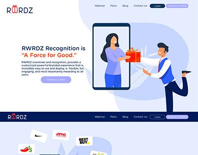 Landing Page for RWRDZ