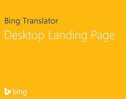 Bing Translator Mobile Landing Page on Behance
