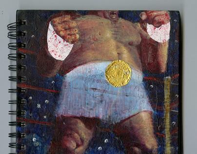 """""""Boxer"""" Sketchbook Cover"""