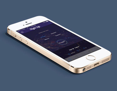 """mobile app to find locations of nightclubs """"Night Life"""""""