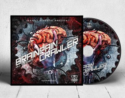 BRAINPAIN / CRAWLER cover design