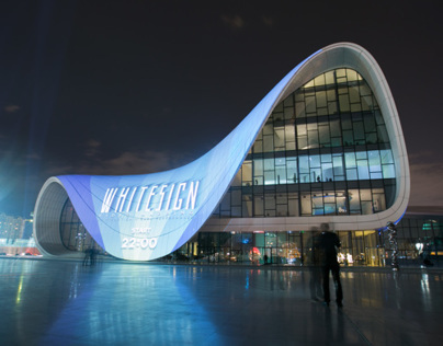 WHITE SIGN / video mapping installation