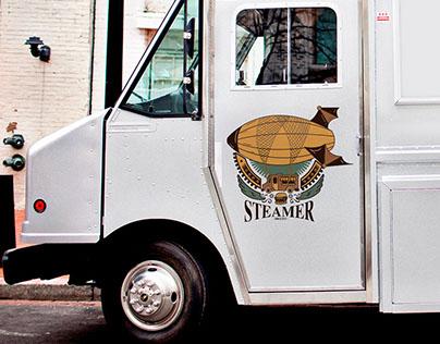 Food Truck Steamer | Logo Illustration