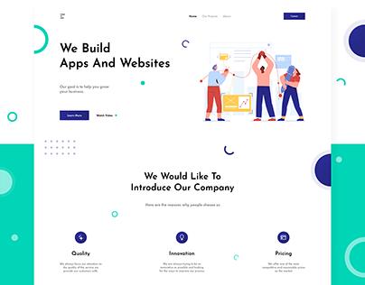 Web And App Development Company Website UI/ UX Design