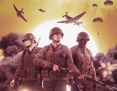 WORLD WAR 2 History Movie Poster Photoshop Manipulation