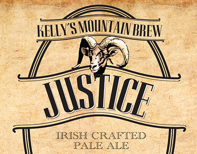 Kelly's Mountain Brew Beer Label