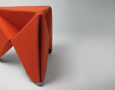 The Morgan Felt Folding Stool