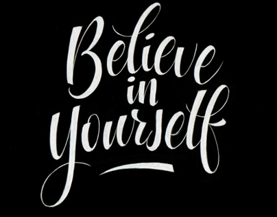 'Believe in yourself' Typo