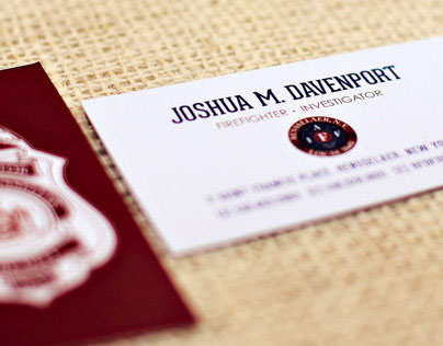 Fire Department Business Cards
