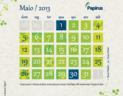 Example of a calendar layout