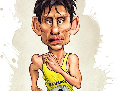 Jefferson Pérez Caricature