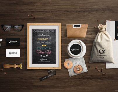 CoffeeRic Brand Identity Design