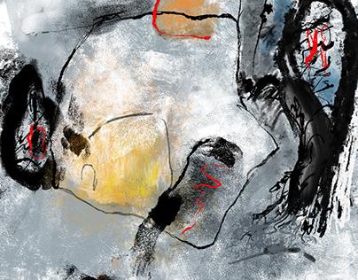 Abstract digital paintings