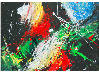 Paint Abstract by Acrylic