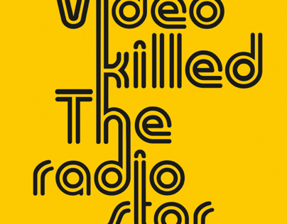 Poster   Video Killed the Radio Star
