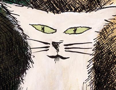 Le chat du jeu de quilles