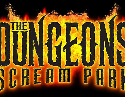 The Dungeons Scream Park Logo Set