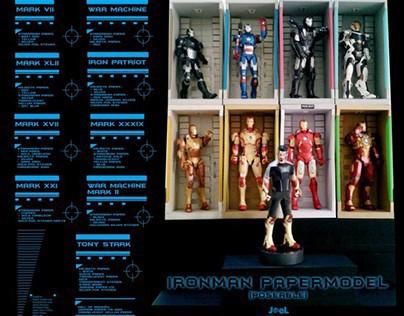 Tony Stark + Ironman Papermodel (Poseable)