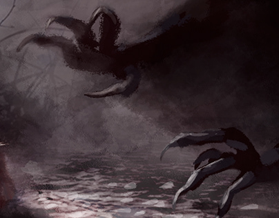 """""""Mercy and the Hunters of the Green Lake"""" Concept Art"""