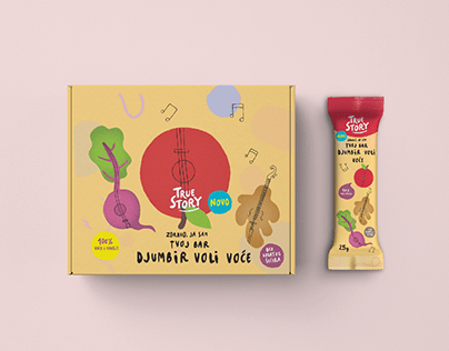 """Illustration and packaging design for """"True Story"""""""