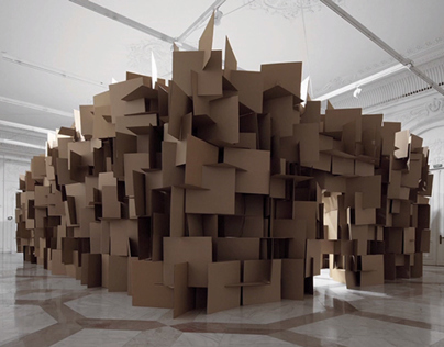 Prepared DC-Motors, Cardboard installation