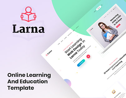 Larna - Online Learning and Education Template