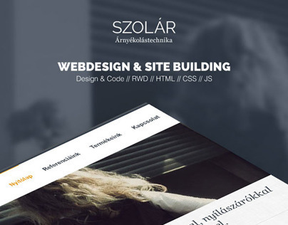 Szolár // design & code
