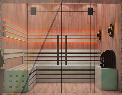 sauna . Jacky design