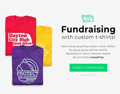 Shirt Fundraising UI/UX