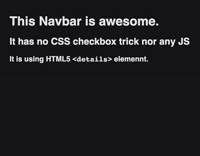 Pure HTML navigation menu