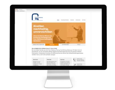 GQ Solutions – Website Relaunch