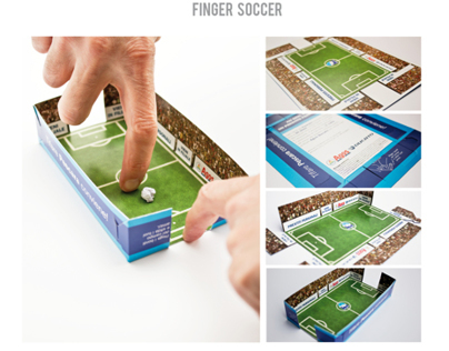 Calendar/Finger Soccer | Below the Line | Promocard