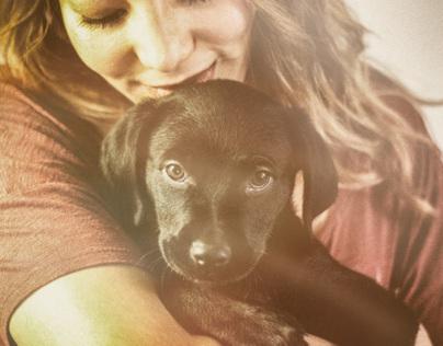 One model. One baby dog 3