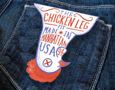Chicken Leg Fit - Denim Branding