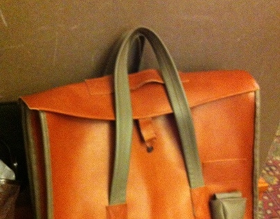Hand Made Leather Bag for Chicago Based Artist-G. Milne