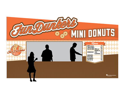 FunDunkers Mini Donut Concession Stand