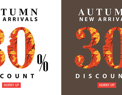 Autumn sale interest offer card