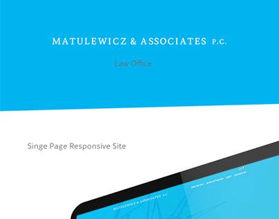 Mateluwicz & Associates P.C. Single Page Site