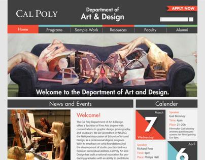 Cal Poly Art & Design Website