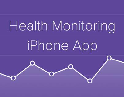 Heath Monitoring app (iPhone)