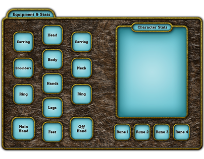 RPG App, Character UI Screen.