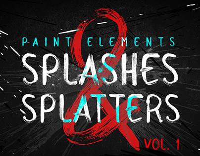 Splatters ~ Motion Graphics Paint Elements Pack Vol.1