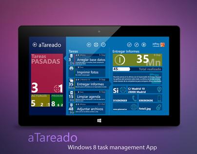© aTareado aplicación de gestión de tareas Windows 8