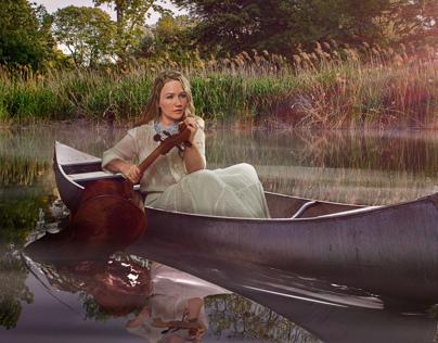 Ashley Bathgate in Canoe