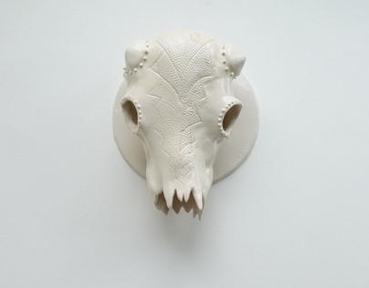 Ceramic Creature Skull